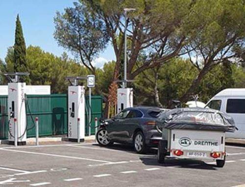 Kan mijn Campooz vouwwagen achter de elektrische auto?